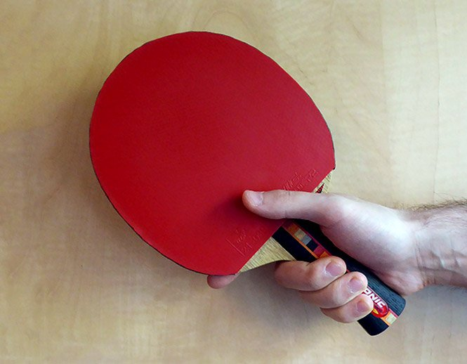 table tennis shakehand deep grip