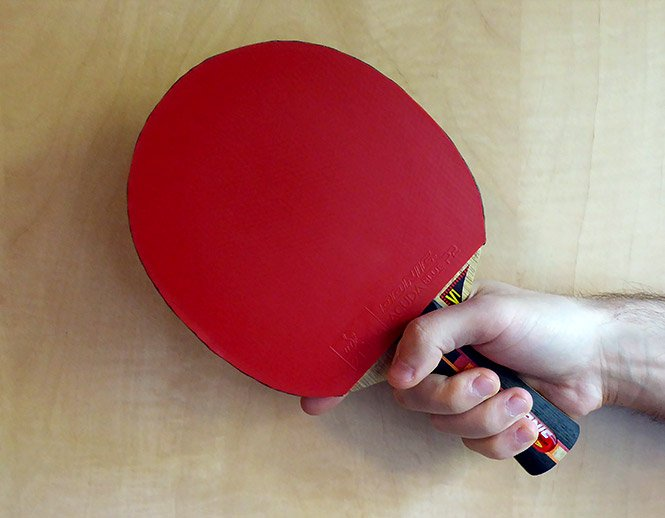 table tennis shakehand shallow grip